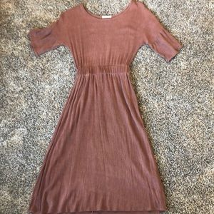 Roolee Dusty Rose Knee Length Dress